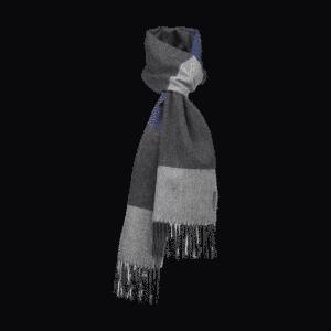 Schal Alpaca Blau Grau