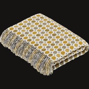 milan gold plaid