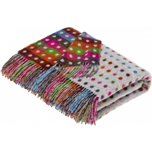 Decke Rainbow Multi Spot Grey