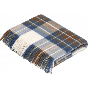 Tartan Plaid Muted Blue Stewart